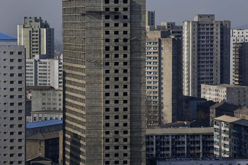 Skylines: Pjöngjang, Nordkorea (AP Photo/Vincent Yu)