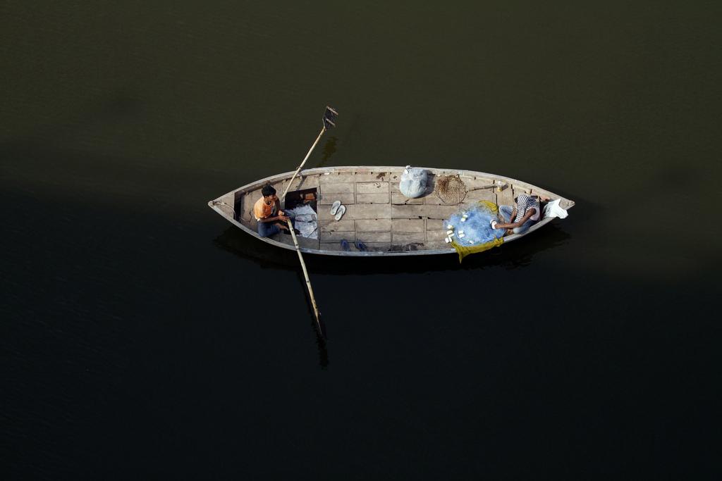 Auf dem Ganges bei Allahabad, Indien (Keystone/AP Photo/Rajesh Kumar Singh)