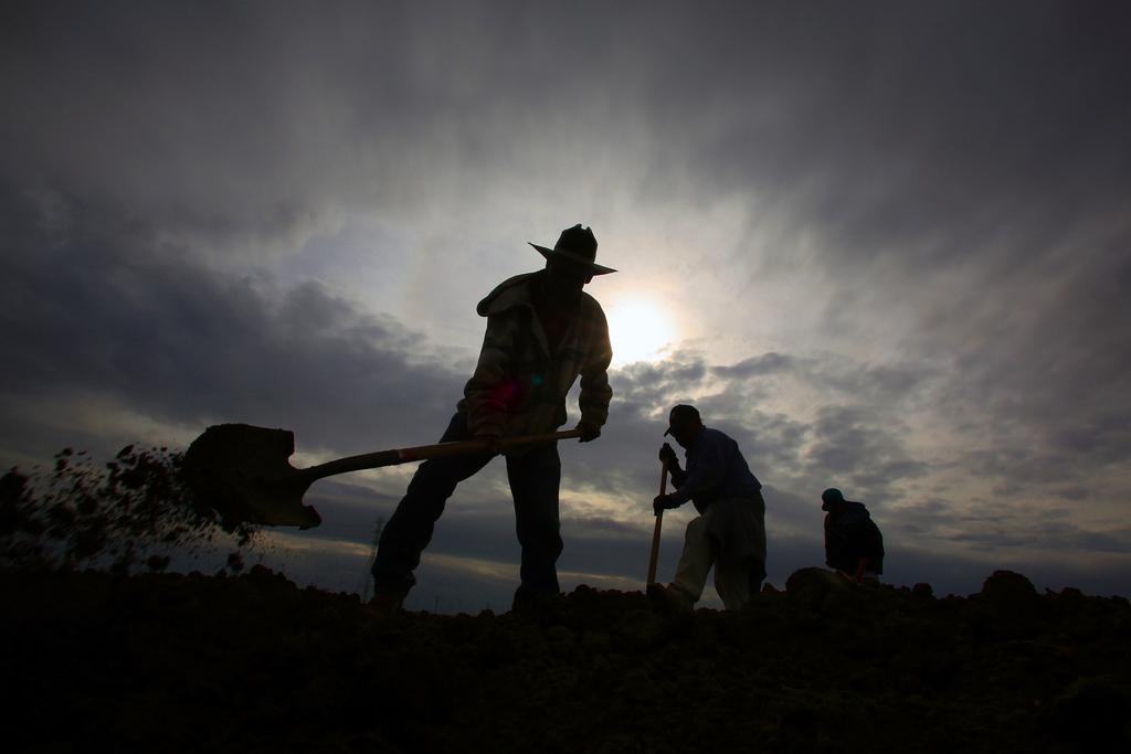 Aufziehender Sturm in Lemoore, USA (Keystone/AP Photo/Gary Kazanjian)