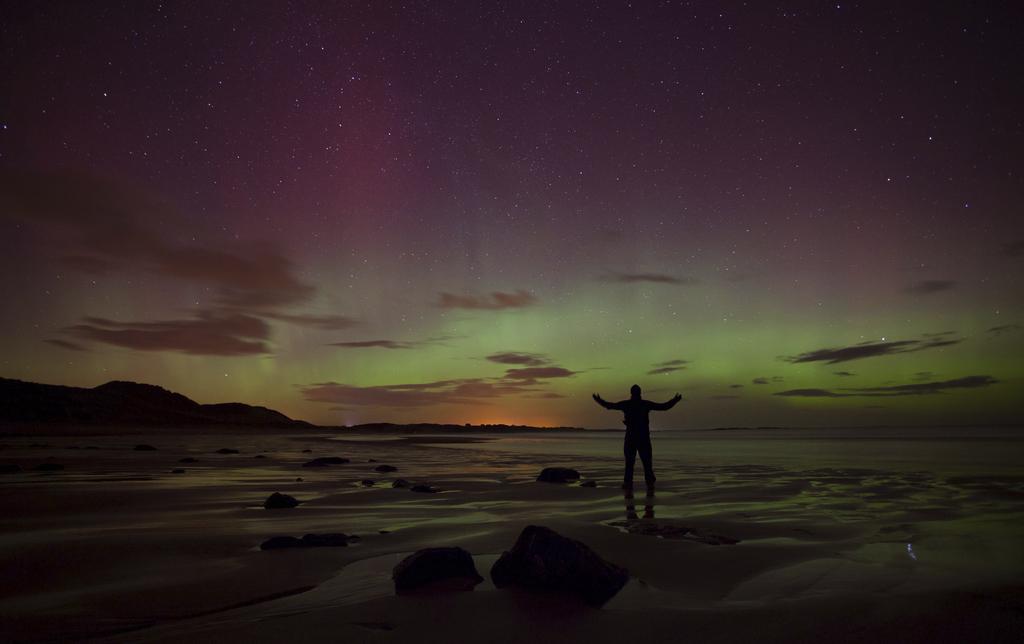 Polarlicht über Northumberland, England (Keystone/AP Photo/Tom White)