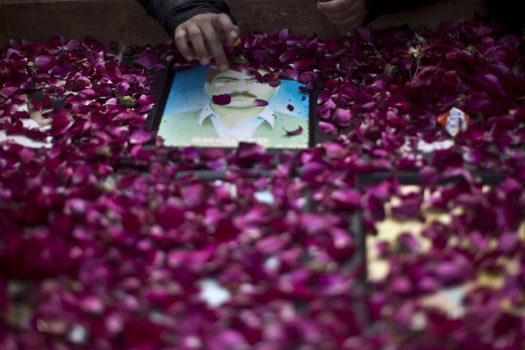 Foto eines Vermissten in Rawalpindi, Pakistan (Keystone/AP Photo/Muhammed Muheisen)