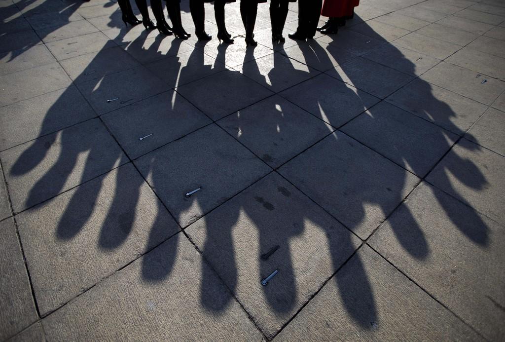 Hostessen für den Chinesischen Nationalkongress in Beijing, China (Keystone/AP Photo/Andy Wong)