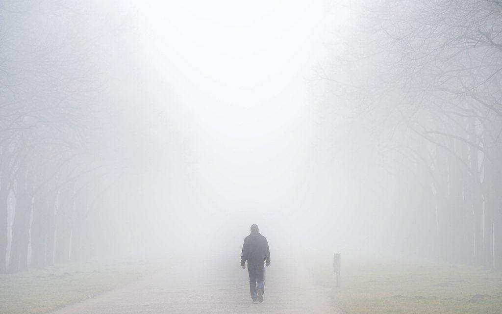 Nebel in Hanover, Deutschland (Keystone/EPA/Peter Steffen)