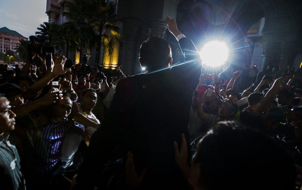 Kundgebung in Kuala Lumpur, Malaysia (Keystone/EPA/Ahmad Yusni)