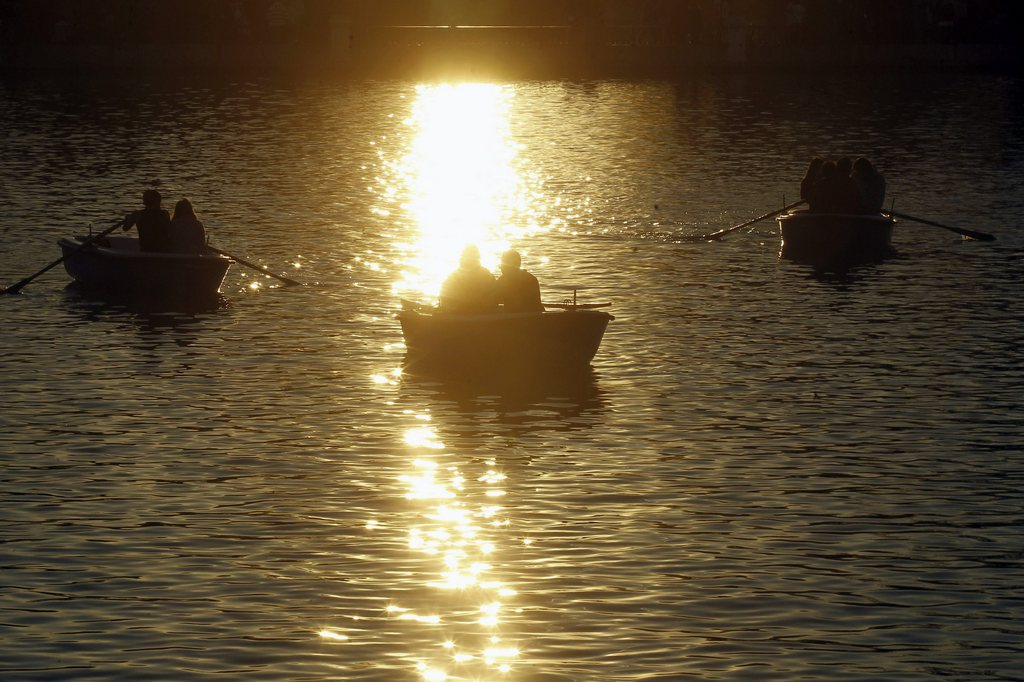 Sonne über Madrid, Spanien (Keystone/EPA/Kiko Huesca)