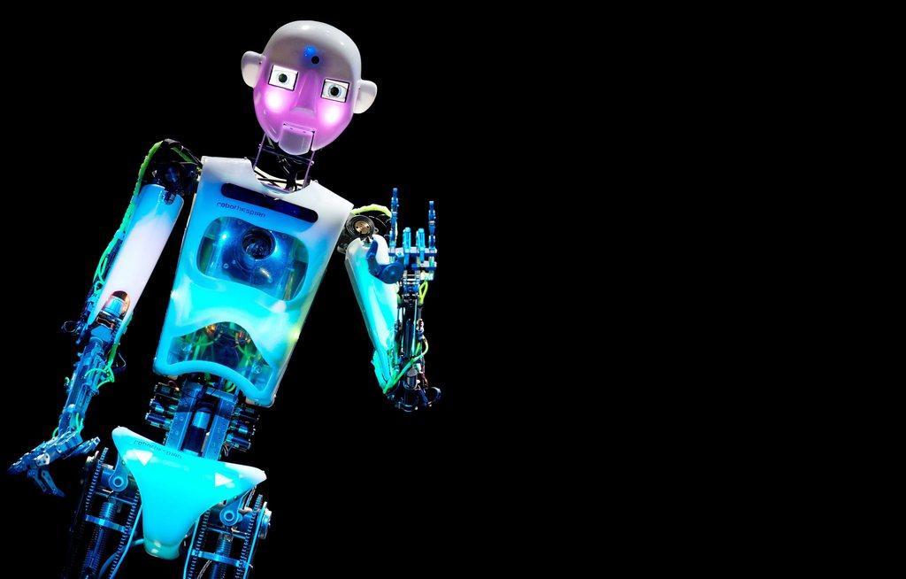 Roboter auf der CeBIT, Hannover D EPA/FRISO GENTSCH