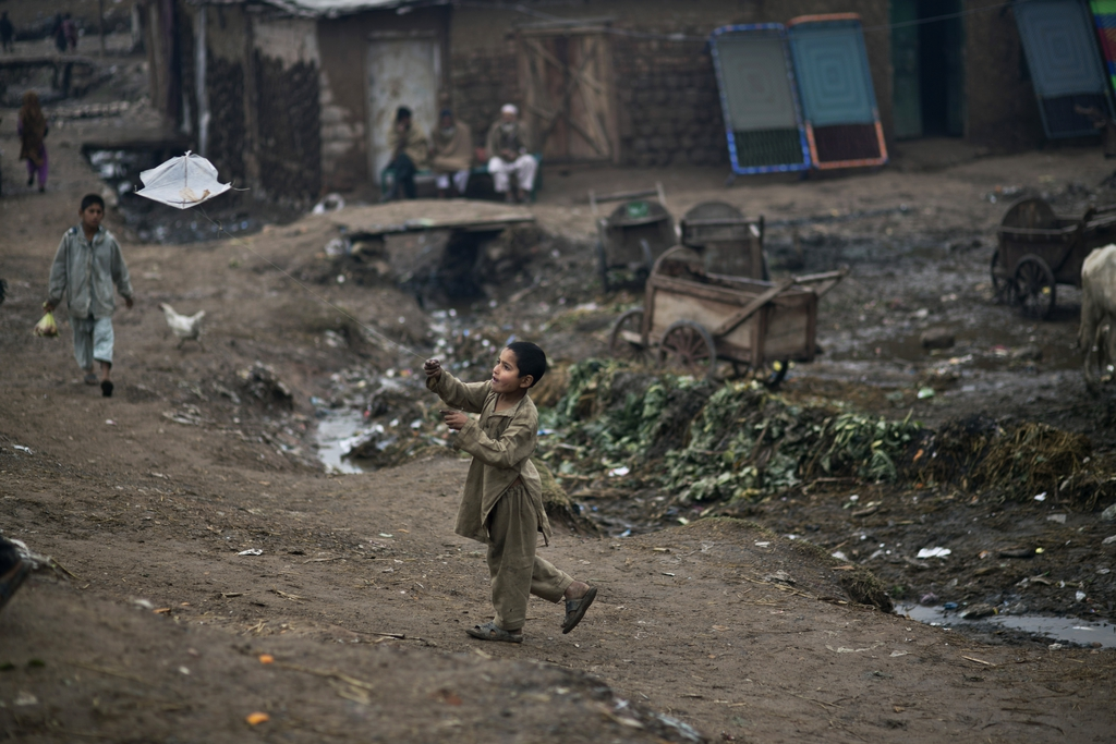 Kinderspiele in Islamabad, Pakistan (AP Photo/Muhammed Muheisen)