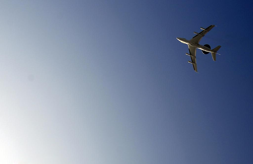 AWACS-Flugzeug über Geilenkirchen, Deutschland (Keystone/AP Photo/Frank Augstein)