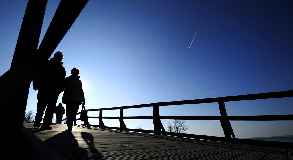 Spaziergang in Cuxhaven, Deutschland (Keystone/EPA/Alexander Körner)