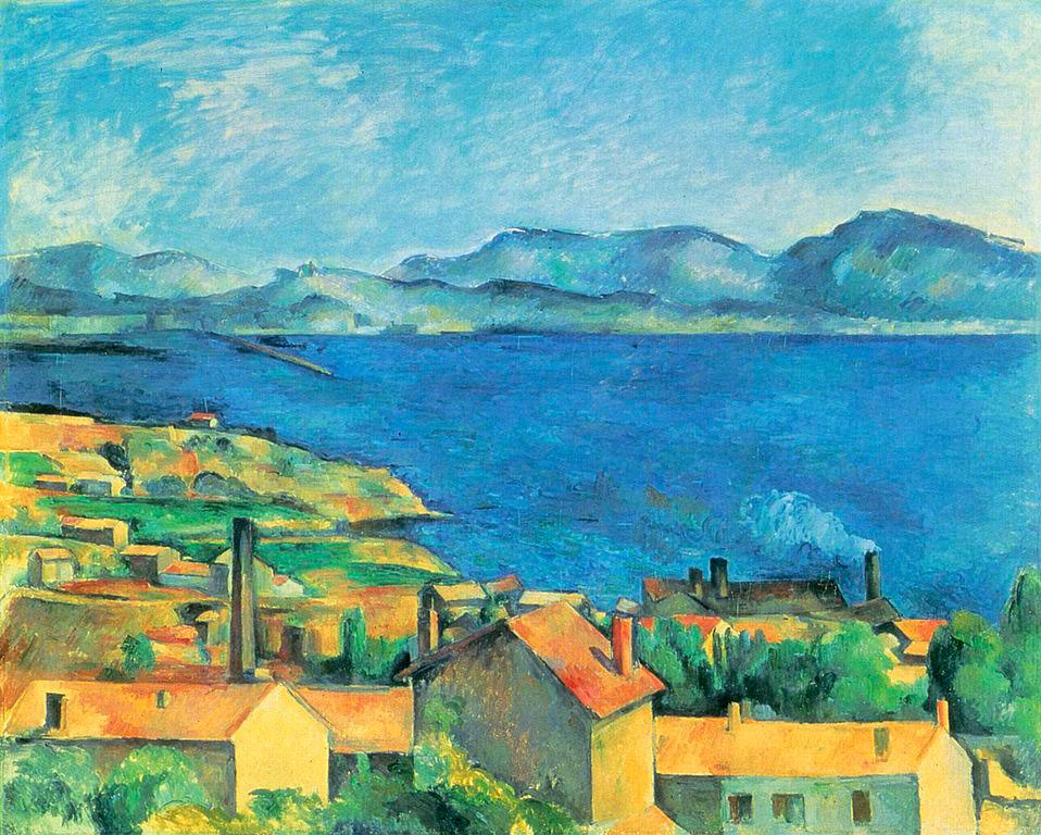 Abb. 10: Paul Cézanne, 'Baie de Marseille, vue de l'Estaque' (gemeinfrei)