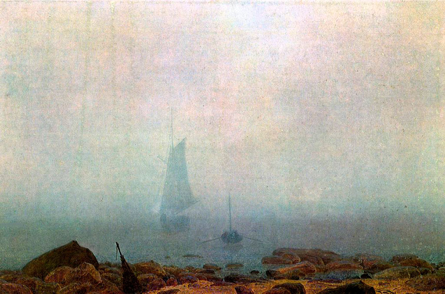 Abb. 12: Caspar David Friedrich, 'Nebel' (gemeinfrei)