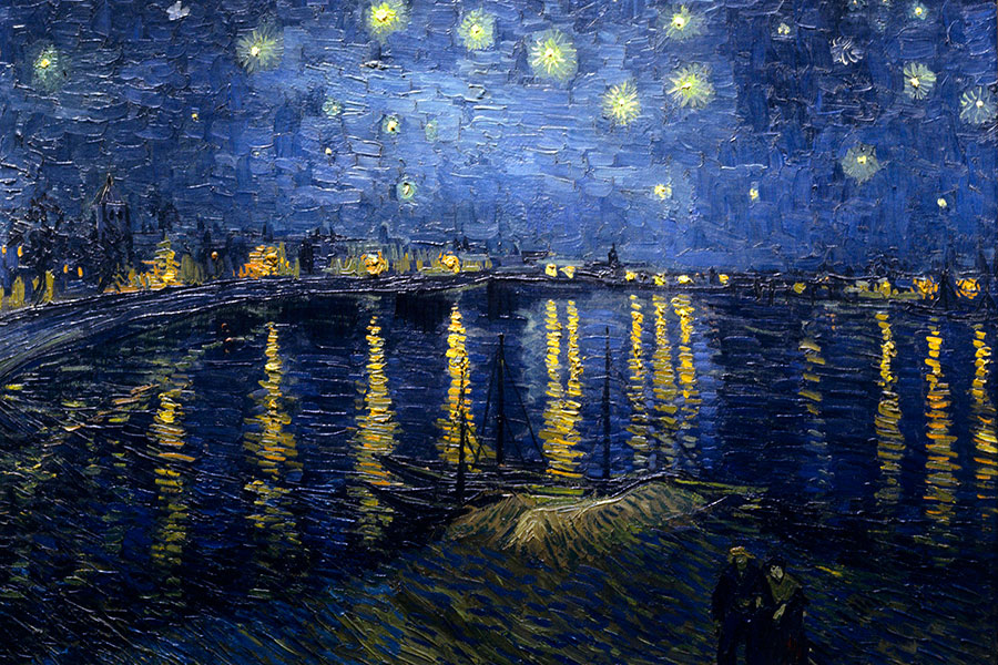 Abb. 14: Vincent van Gogh, 'Nuit étoilée sur le Rhône' (gemeinfrei)