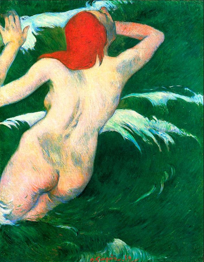 Abb. 15: Paul Gauguin, 'Dans les vagues' (gemeinfrei)