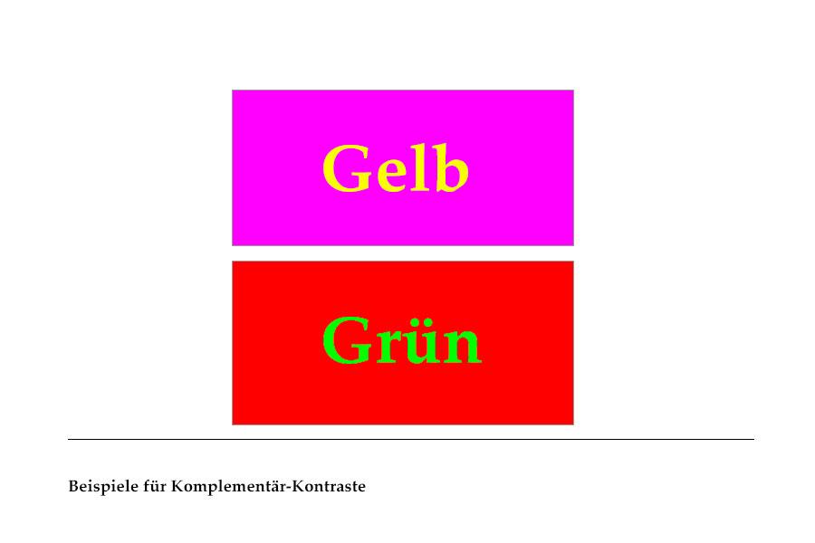 Abb. 16: Beispiele für Komplementär-Kontraste