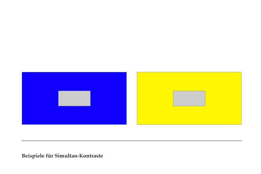 Abb. 17: Beispiele für Simultan-Kontraste