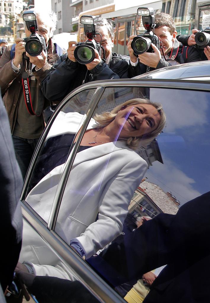 Marie Le Pen in Nizza, Frankreich (Keystone/AP Photo/Lionel Cironneau)