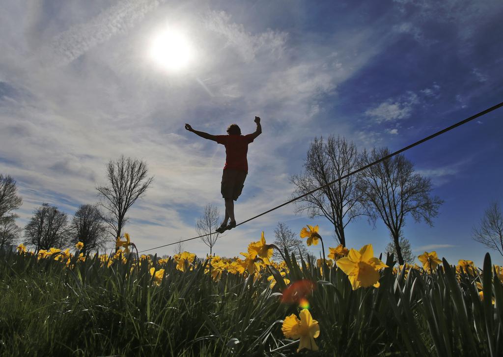 Frühlingsboten in Düsseldorf, Deutschland (Keystone/AP Photo/Frank Augstein)
