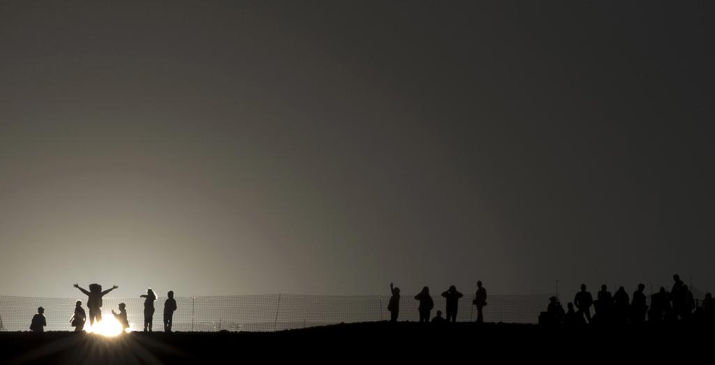 Sonnengruß zum Frühlingsanfang in Mexiko (AP Photo/Rebecca Blackwell)