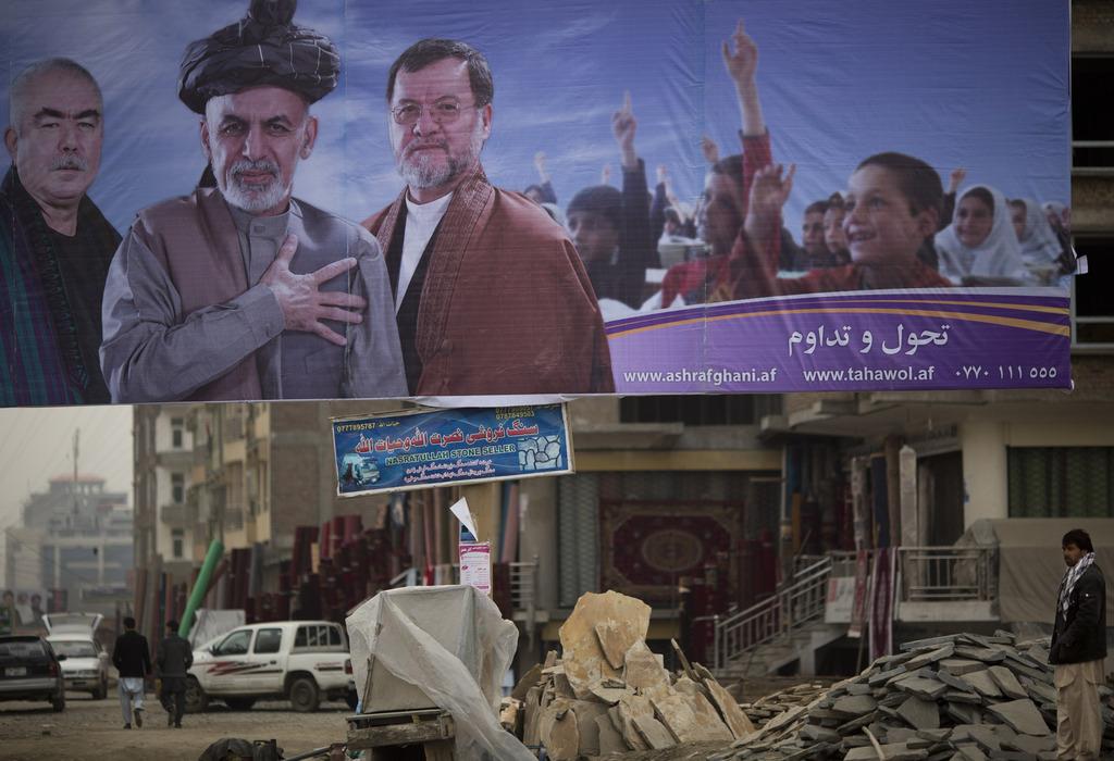 Wahlplakate in Kabul, Afghanistan (AP Photo/Anja Niedringhaus)