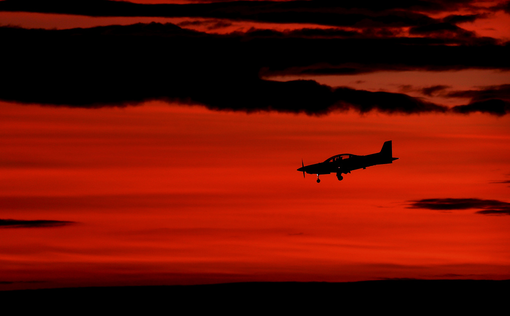 Landeanflug in Perth, Australien (Keystone/AP Photo/Rob Griffith)