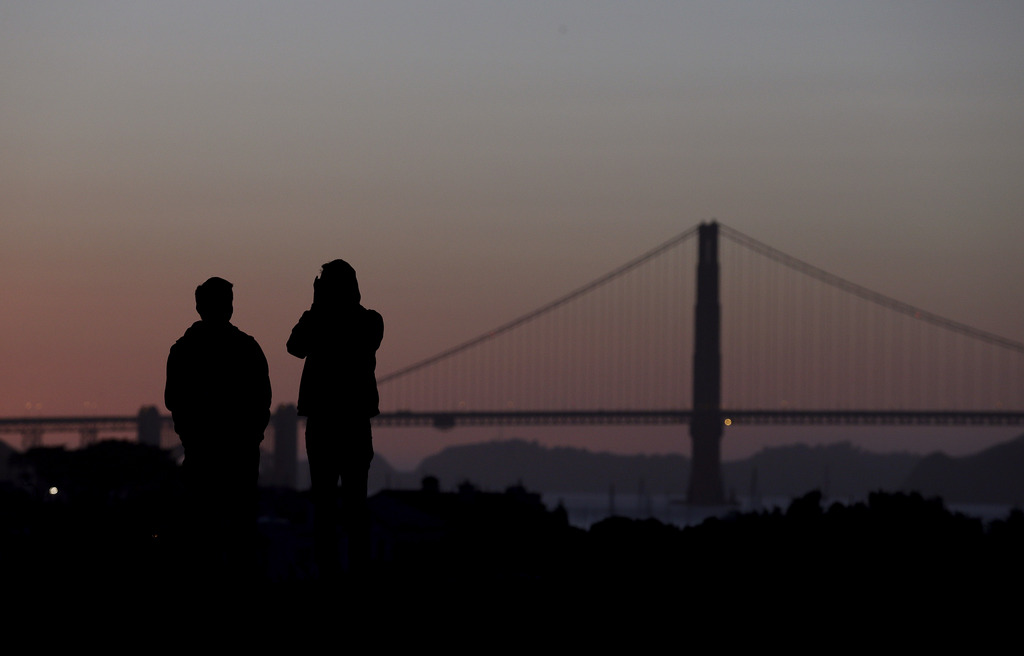 Die Golden Gate Brücke vor San Francisco, USA (Keystone/AP Photo/Jeff Chiu)