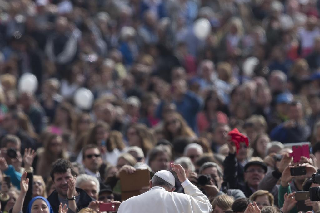 Papst Franziskus bei seiner wöchentlichen Audienz in Rom, Italien (Keystone/AP Photo/Alessandra Tarantino)