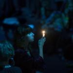Zuschauerin bei der Modenschau in Moskau, Russland (Keystone/AP Photo/Alexander Zemlianichenko)