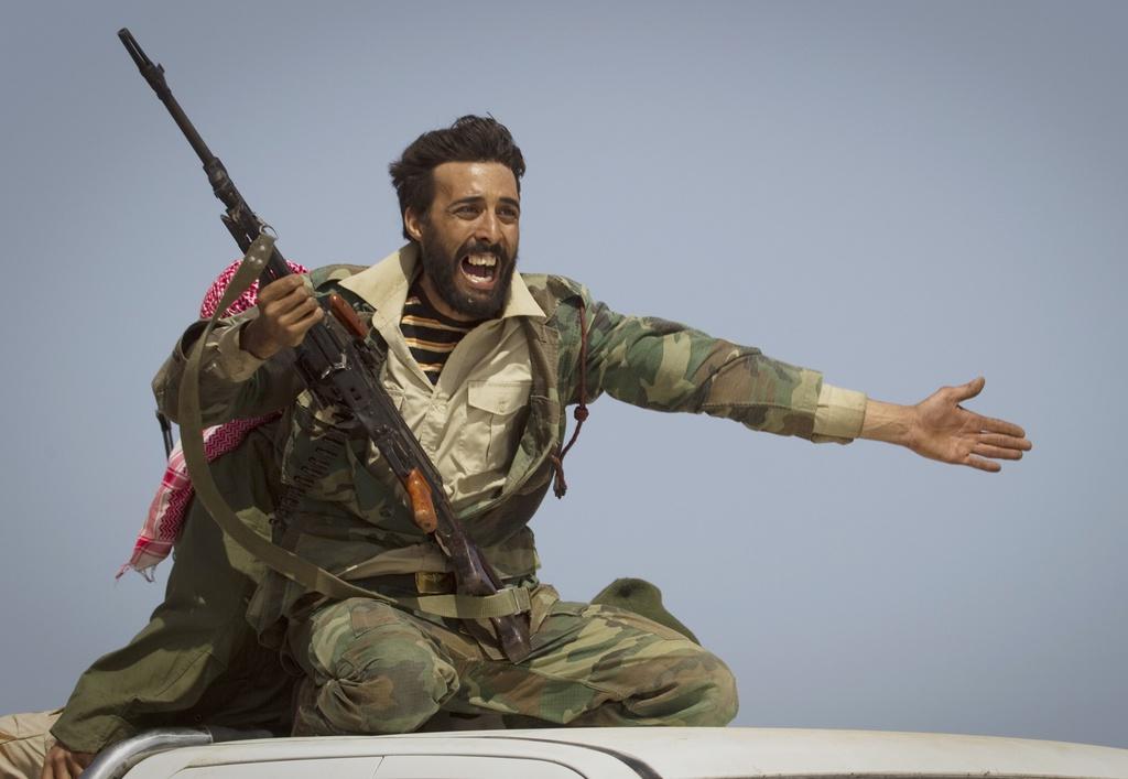 Libyscher Rebell in Bin Jawaad, Libyen (Keystone/AP Photo/Anja Niedringhaus)