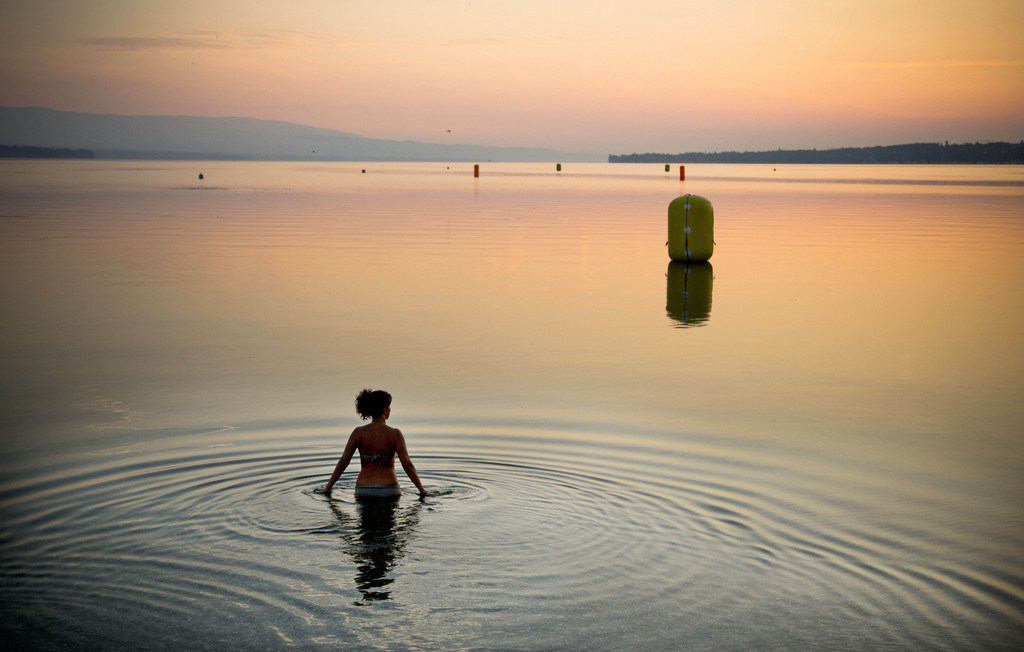 Bad im See bei Genf, Schweiz (Keystone/AP Photo/Anja Niedringhaus)