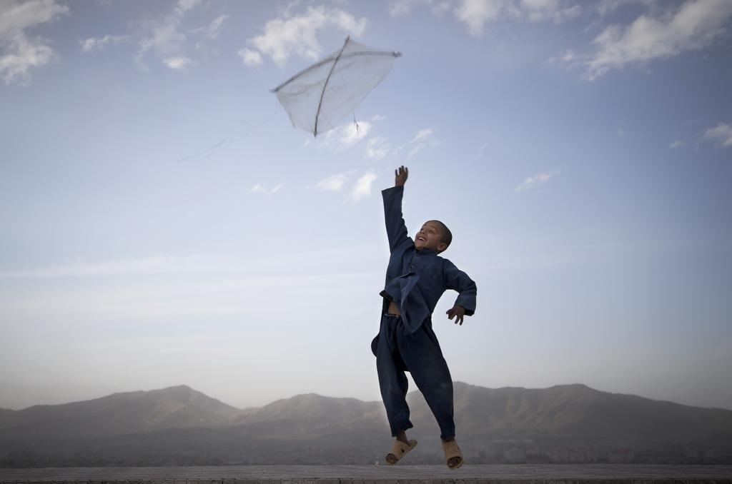 Drachenfliegen in Kabul, Afghanistan (Keystone/AP Photo/Anja Niedringhaus)