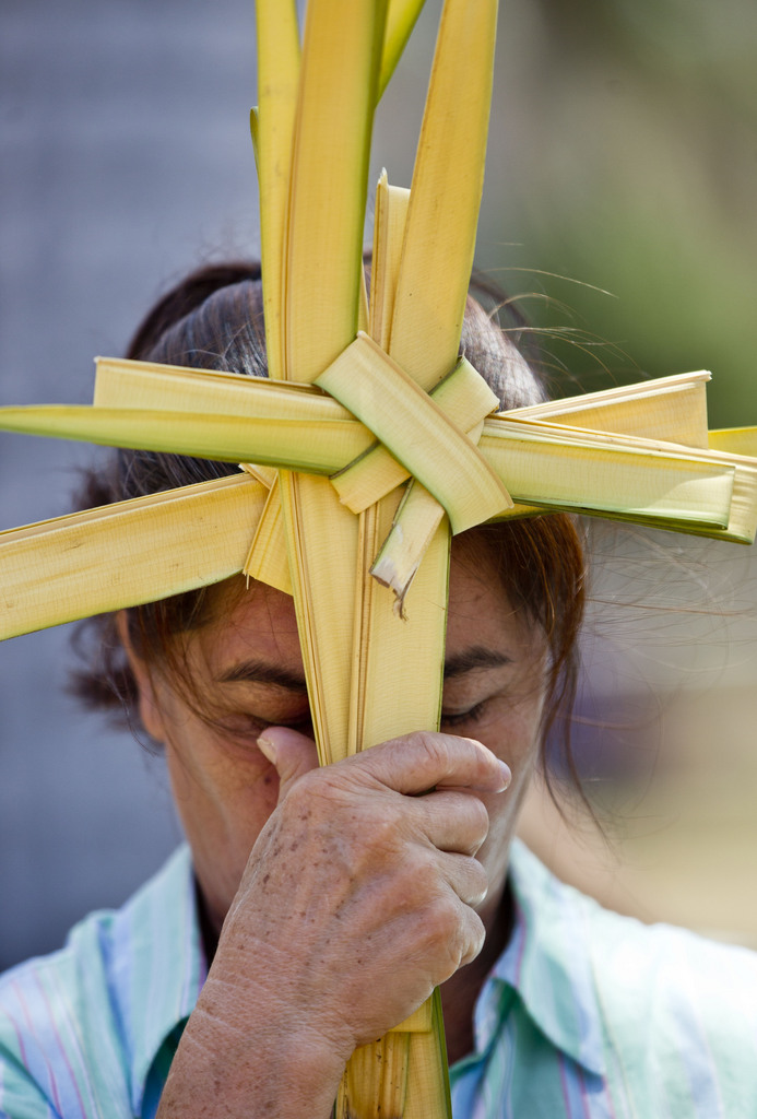 Palmkreuz in Managua, Nicaragua (AP Photo/Esteban Felix)