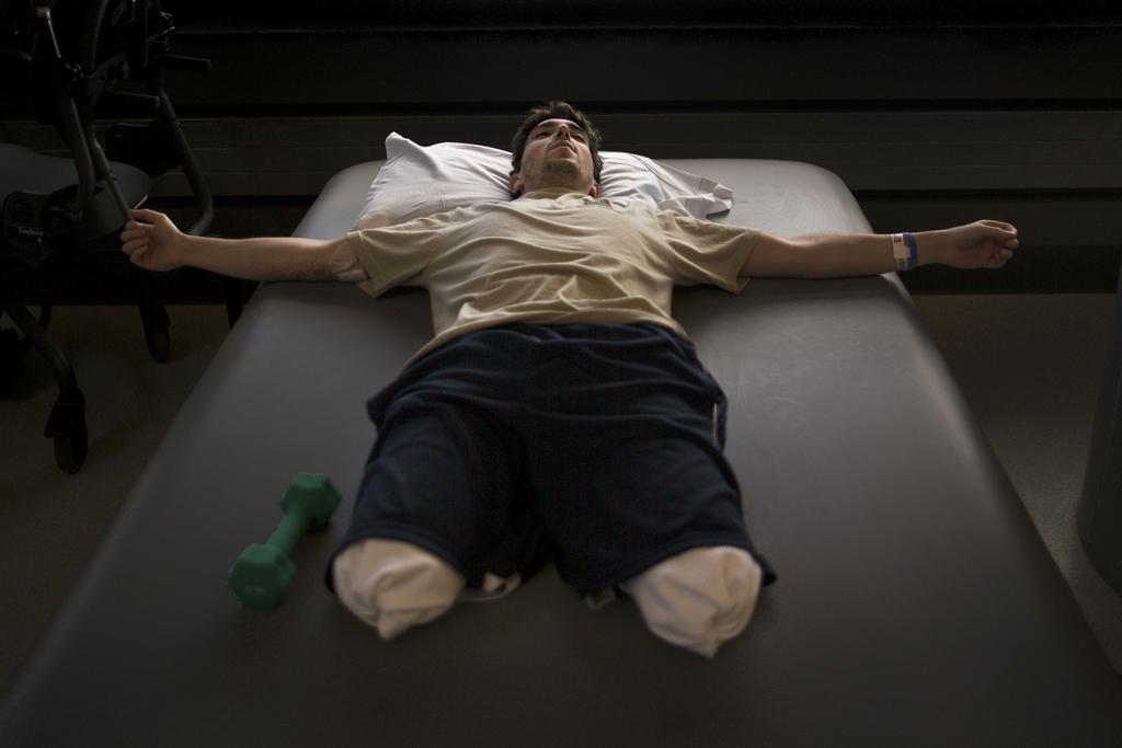Pulitzer-Preis: Foto aus dem preisgekrönten Portfolio des Fotografen Josh Haner: Opfer des Bombenanschlags auf den Boston-Marathon (AP Photo/The New York Times, Josh Haner)