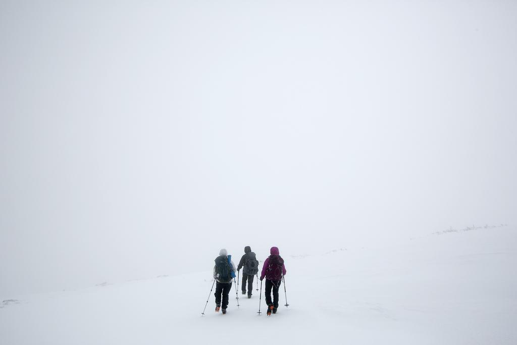 Wintereinbruch auf dem Mount Adams, USA (Keystone/AP Photo/Robert F. Bukaty)