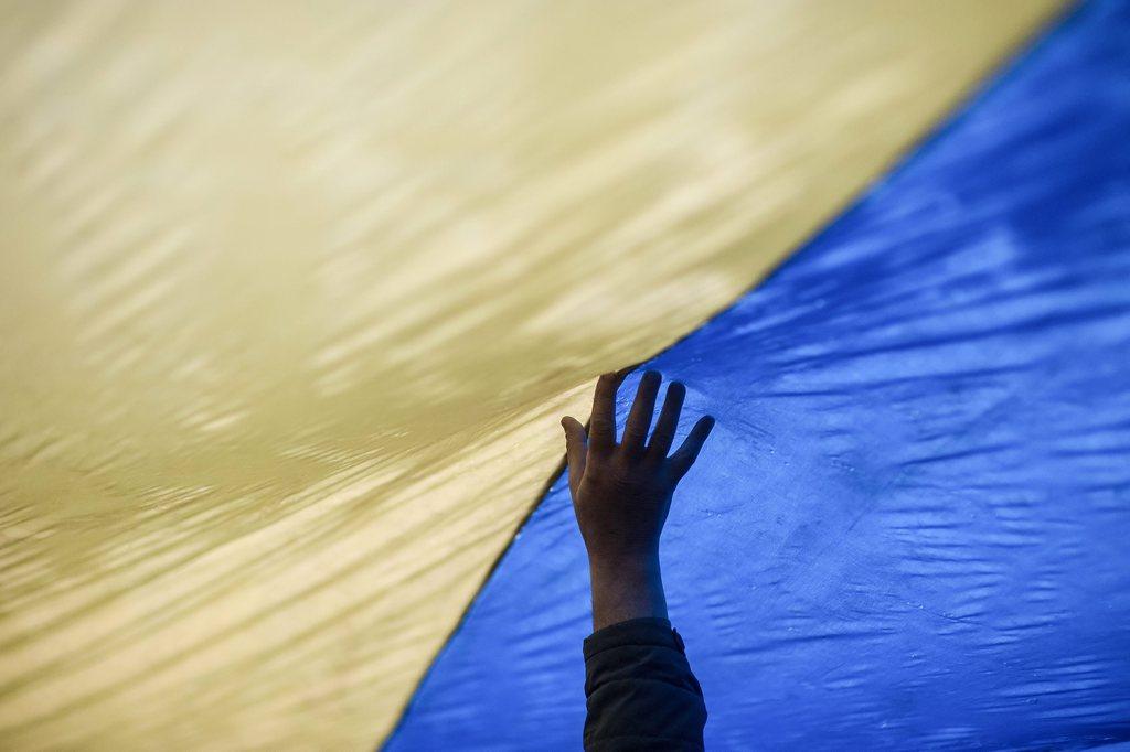 Protest in Donetsk, Ukraine (Keystone/EPA/Konstantin Ivanov)