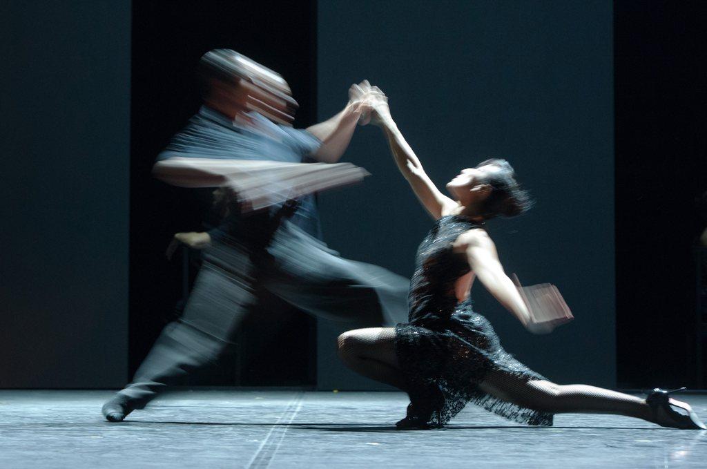 Proben beim Movimentos Dance Festival in Wolfsburg, Deutschland (Keystone/EPA/Jochen Lübke)