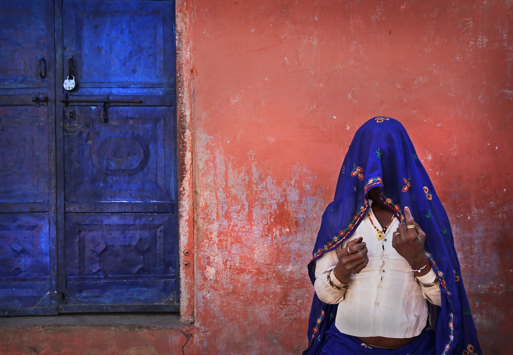Wahlen in Sawai Madhopur, Indien (Keystone/AP Photo/Manish Swarup)