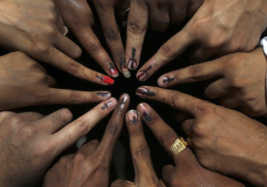Wahlen in Mumbai, Indien (Keystone/EPA/Divyakant Solanki)