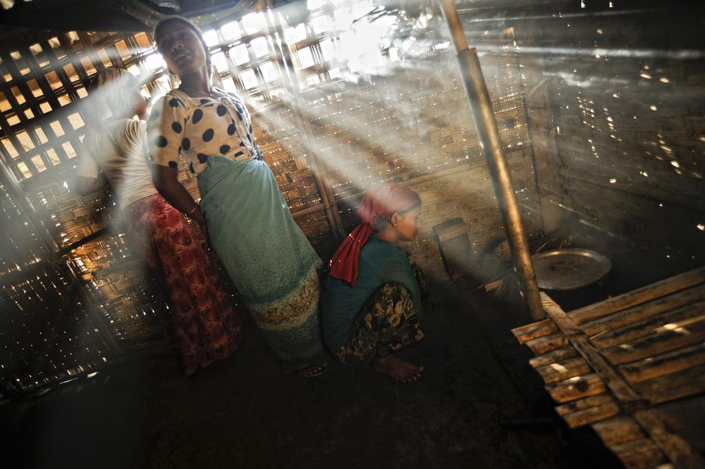 Flüchtlingslager in Sittwe, Myanmar (Keystone/AP Photo/Kaung Htet)