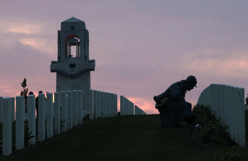 Gedenken an die Kriegsopfer in Villers-Bretonneux, Frankreich (Keystone/AP Photo/Michel Spingler)