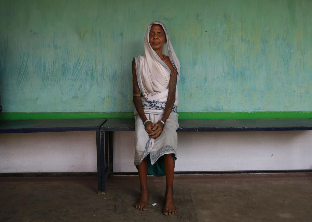 Arzt-Wartezimmer nahe Raigarh, Indien (AP Photo/Rafiq Maqbool)