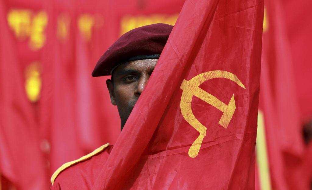 Tag der Arbeit in Colombo, Sri Lanka (Keystone/AP Photo/Eranga Jayawardena)