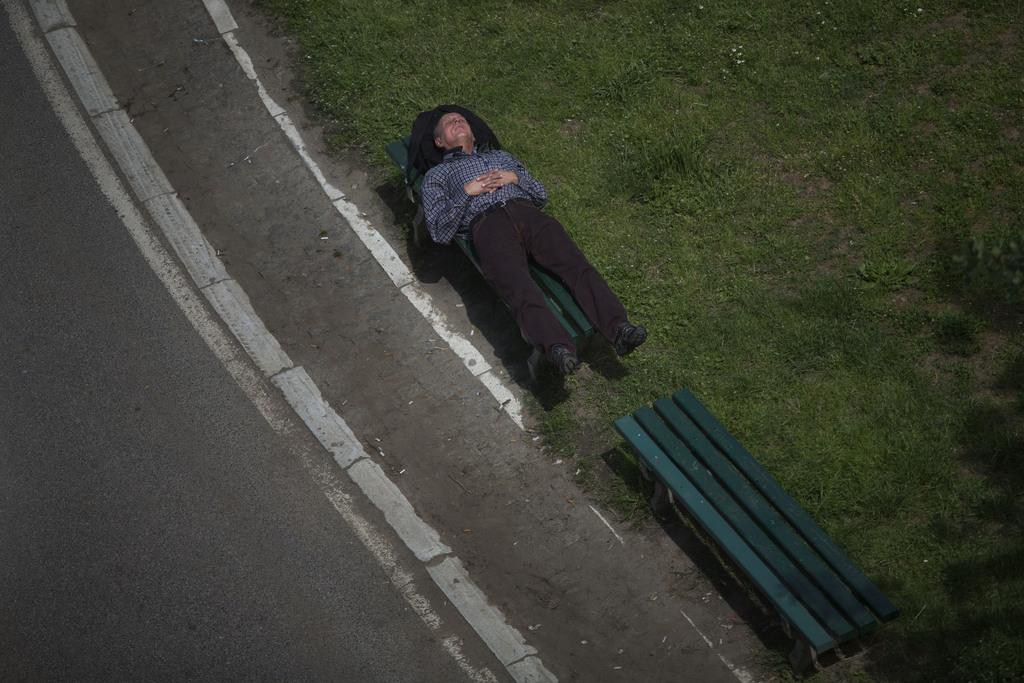 Pause in Belgrad, Serbien (Keystone/AP Photo/Marko Drobnjakovic)