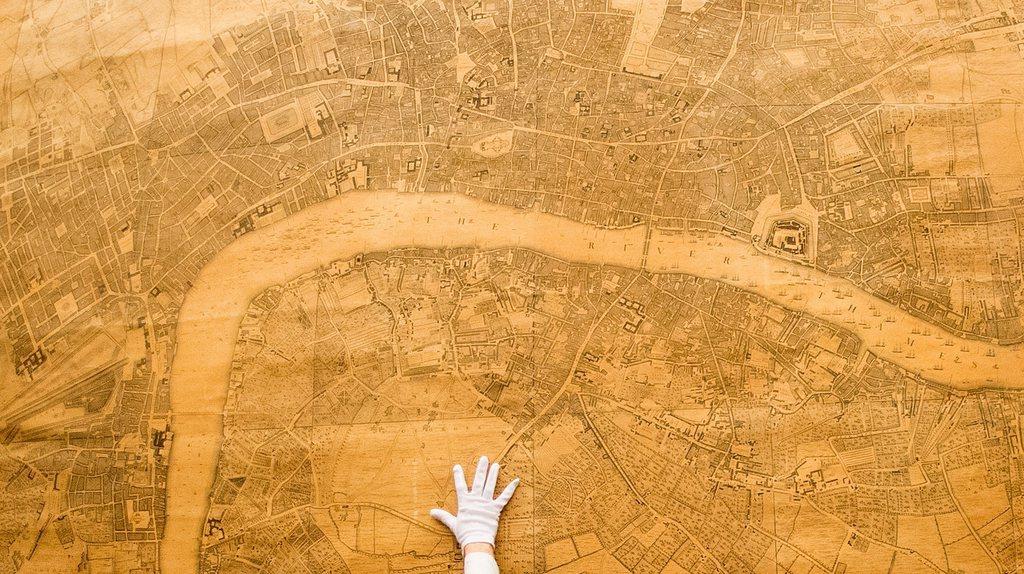 London map at Wilhelm-Busch-Museum