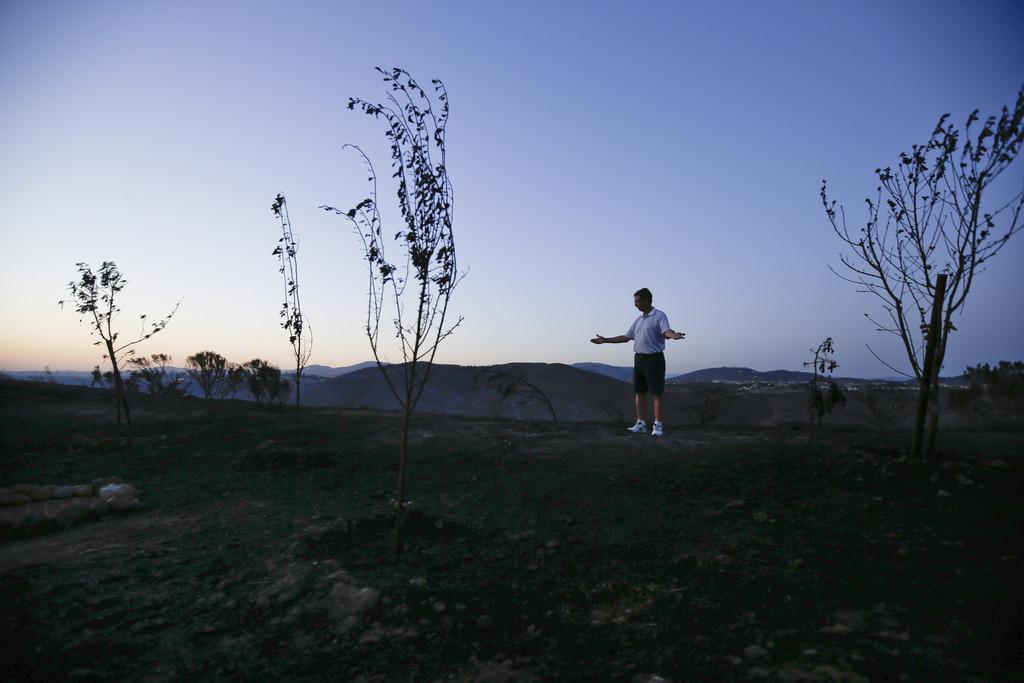 Opfer eines Waldbrandes in San Diego, USA (Keystone/AP Photo)