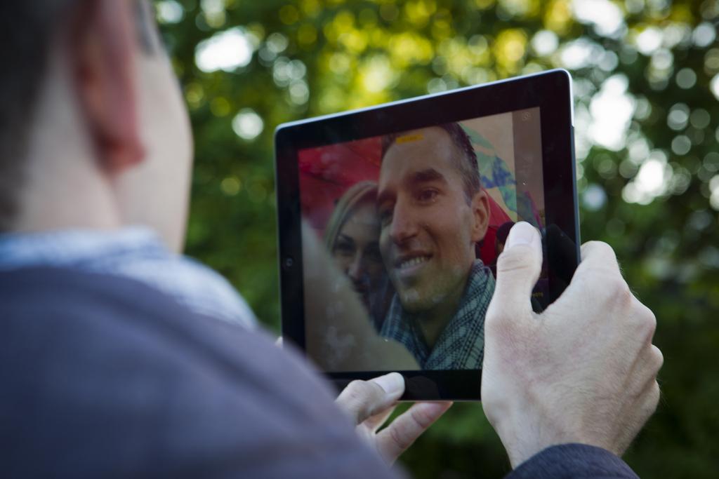 Selfie in Soest, Niederlande (Keystone/AP Photo/Jan-Joseph Stok)