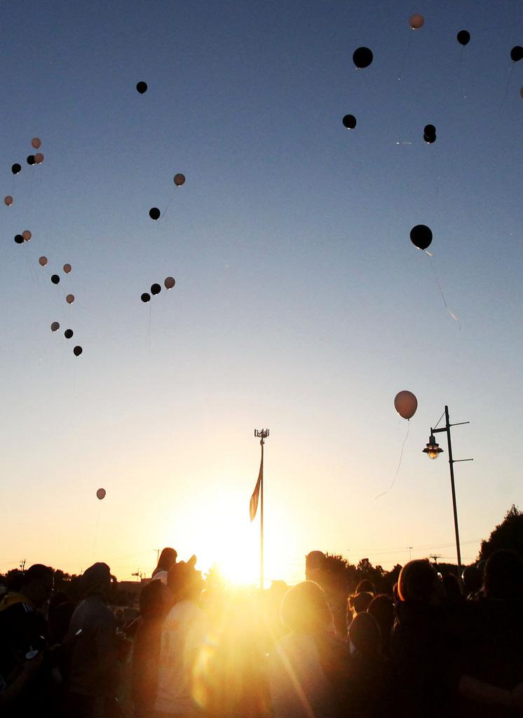 Luftballons in Odessa, USA (Keystone/AP Photo/Edyta Blaszczyk)