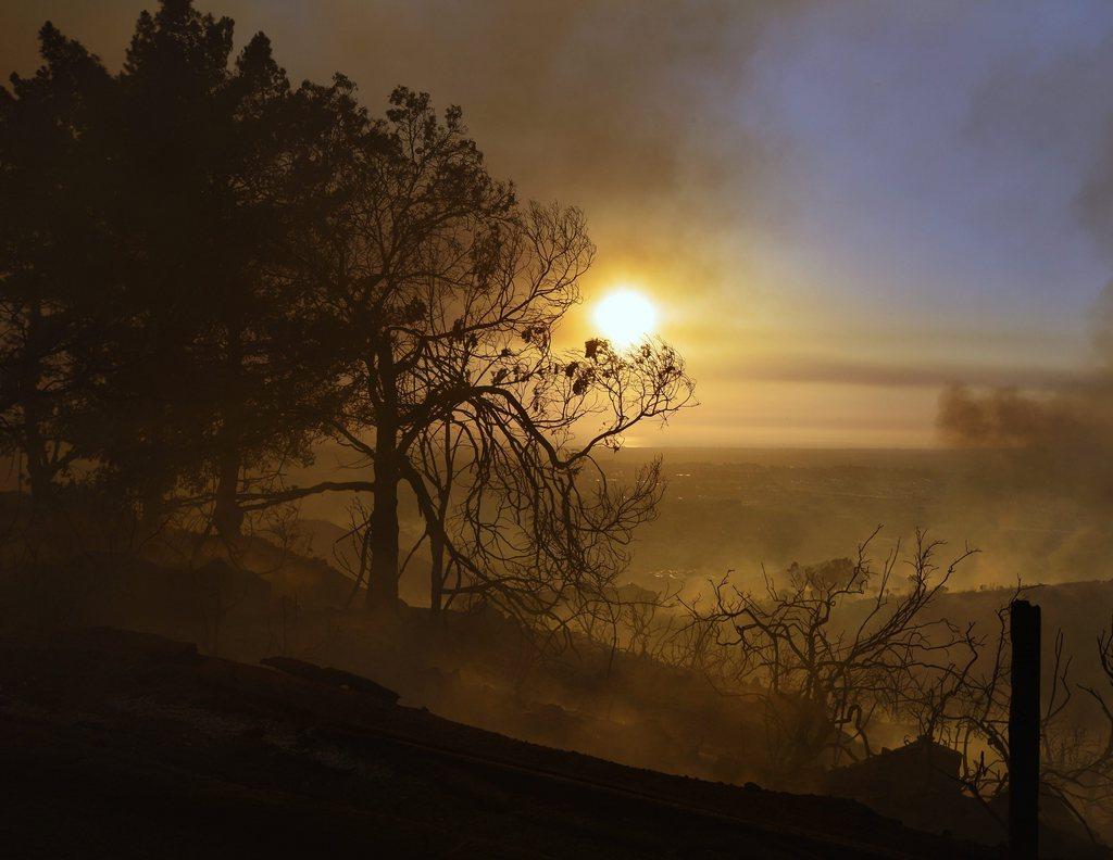 Waldbrand in San Diego (Keystone/EPA/Stuart Palley)