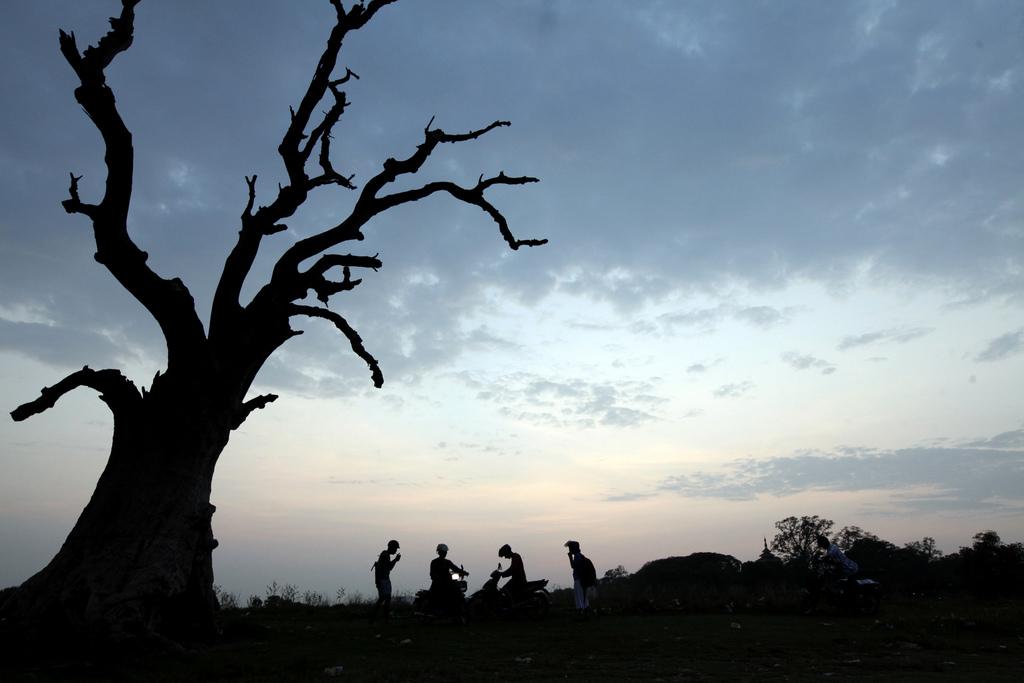 Sonnenuntergang in Mandalay, Myanmar (Keystone/AP Photo/Khin Maung Win)