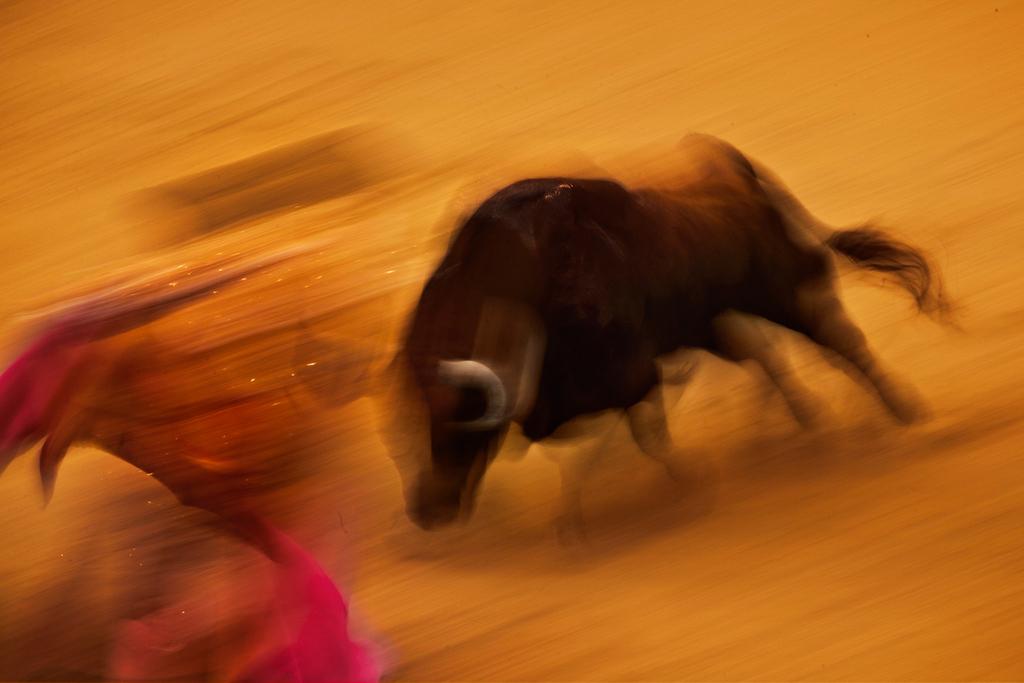 Stierkampf in Madrid, Spanien (Keystone/AP Photo/Daniel Ochoa de Olza)