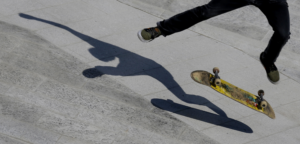 Skater in Mailand, Italien (Keystone/AP Photo/Luca Bruno)